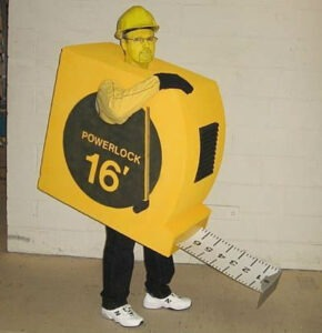 tape measure halloween costume