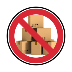 do not store in storage facility