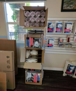 packing supplies - dish boxes and glass packs - moving and packing supplies