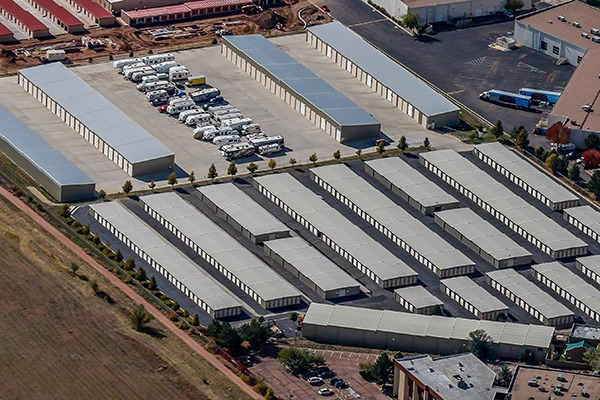 video tour and Arial photo of Garden of the Gods Self Storage the largest self storage facility in Colorado Springs