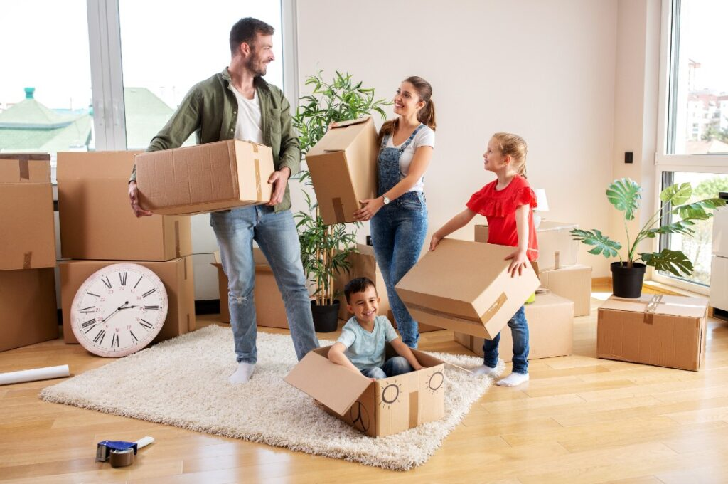 stress out of moving with kids